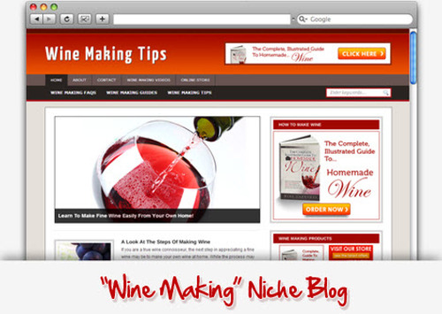 Pay for Wine Making Niche Blog
