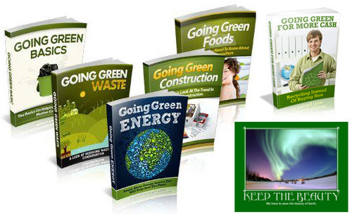 Pay for Going Green Course Niche Packs (5 eBooks) - MRR
