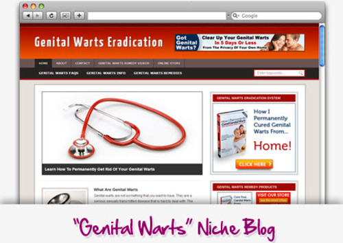 Pay for Genital Warts Niche Blog