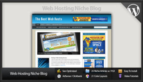 Pay for Web Hosting Niche Blog - Video Installation Included