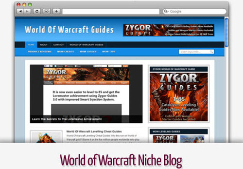 Pay for World of Warcraft Niche Blog - Video Tutorials Included