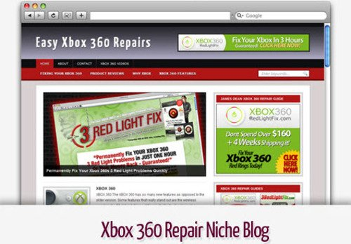 Pay for Xbox 360 Repair Niche Blog - Video Tutorials Included