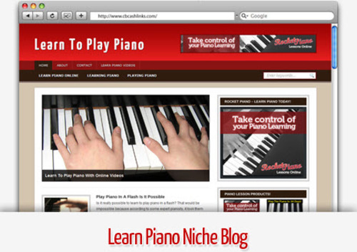 Pay for Learn Piano Niche Blog - Video Tutorials Included