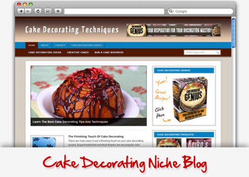 Pay for Cake Decorating Niche Blog - Video Tutorials Included