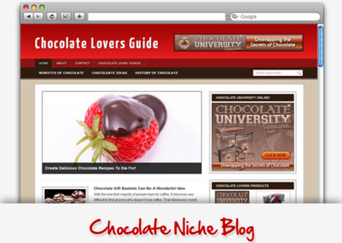 Pay for Chocolate Lovers Niche Blog - Highly Optimized Blogs