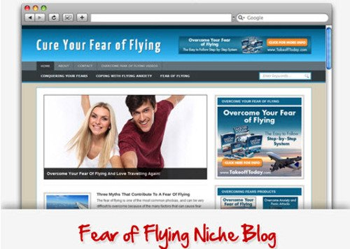 Pay for Fear Of Flying Niche Blog - Highly Optimized Blogs
