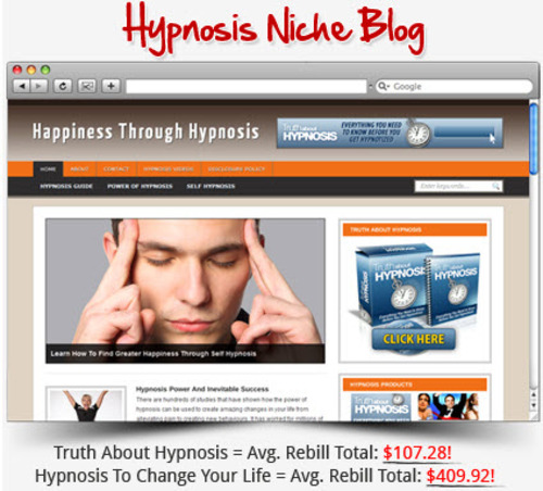 Pay for Hypnosis Niche Blog - Highly Optimized Blogs