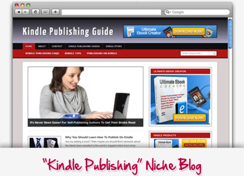 Pay for Kindle Publishing Niche Blog - Highly Optimized Blogs