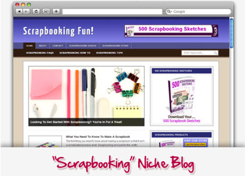 Pay for Scrapbooking Niche Blog - Highly Optimized Blogs
