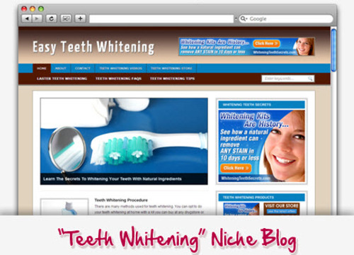 Pay for Teeth Whitening Niche Blog - Highly Optimized Blogs