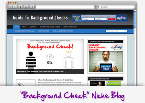 Pay for Background Checks Niche Blog - Highly Optimized Blogs
