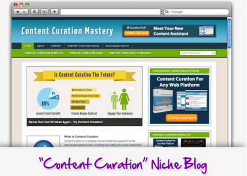 Pay for Content Curation Niche Blog - Highly Optimized Blogs