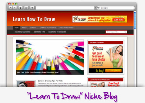 Pay for Learn To Draw Niche Blog - Highly Optimized Blogs