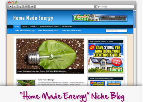 Pay for Home Energy Niche Blog - Highly Optimized Blogs