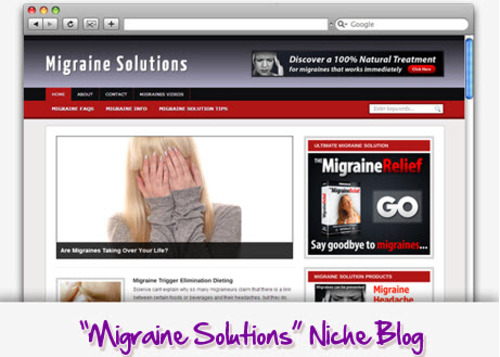 Pay for Migraine Solution Niche Blog - Highly Optimized Blogs