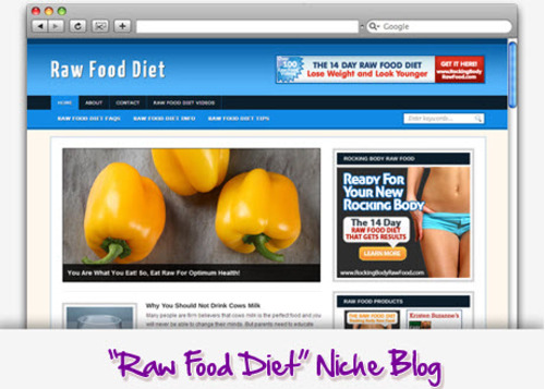 Pay for Raw Food Diet Niche Blog - Highly Optimized Blogs