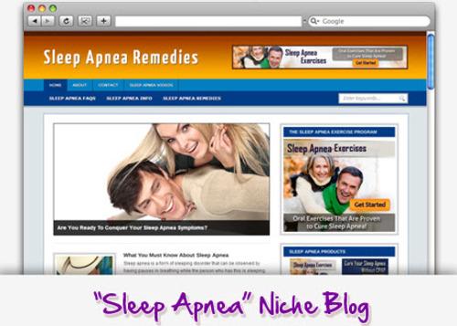 Pay for Sleep Apnea Niche Blog - Highly Optimized Blogs