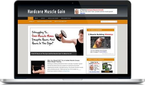 Pay for Hardcore Muscle Gain Niche Blog - Highly Optimized Blogs