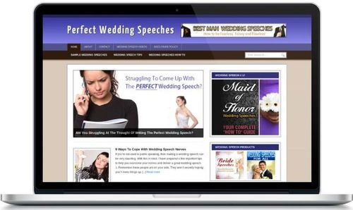Pay for Perfect Wedding Speech Niche Blog - Highly Optimized Blogs