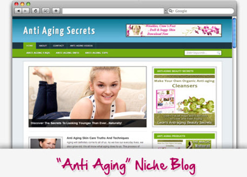 Pay for Anti Aging Secrets Niche Blog - Highly Optimized WP Blogs