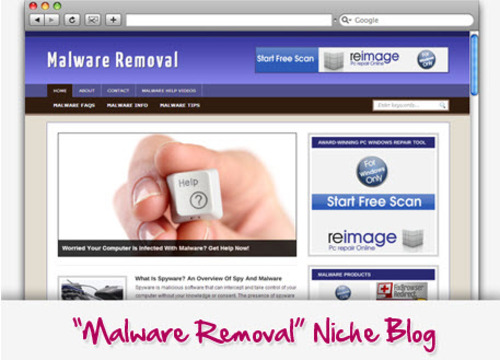 Pay for Malware Removal Niche Blog - Turnkey Sites