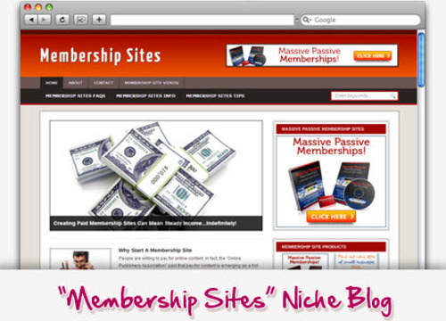 Pay for Membership Sites Niche Blog - Highly Optimized WP Blogs