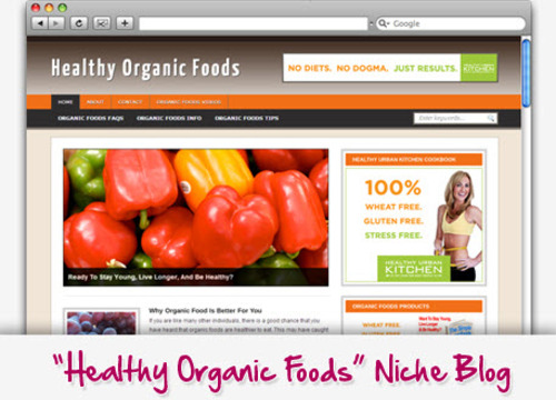 Pay for Natural Health Organic Foods Niche Blog - Highly Optimized Blogs