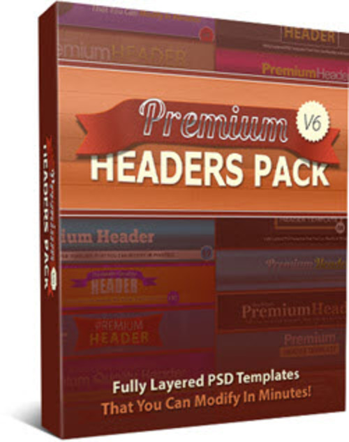 Pay for Premium Headers Pack V6 - 25 PSD Templates