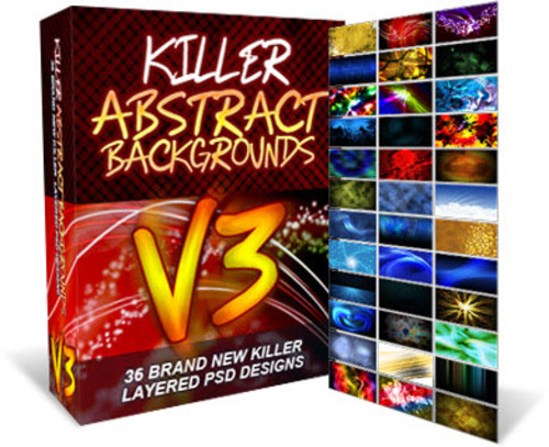 Pay for Killer Abstract Backgrounds V3 - 36 PSD Templates