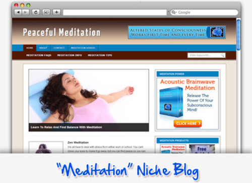 Pay for Meditation Niche Blog - Highly Optimized WP Blogs