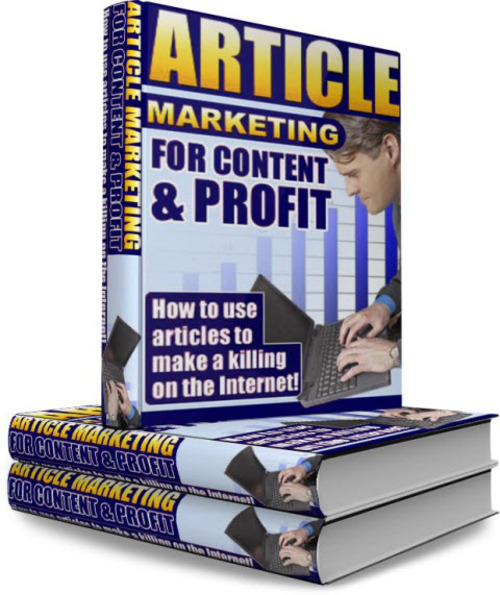 Pay for Article Marketing For Content & Profit - PLR