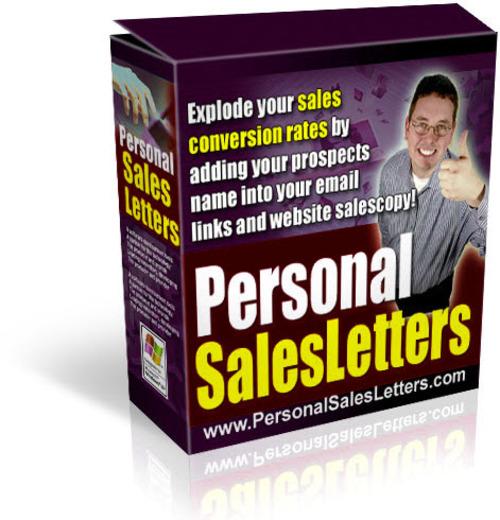 Pay for Personal Sales Letters Script (PLR)