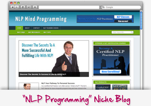 Pay for Neuro-Linguistic Programming (NLP) Niche Blog