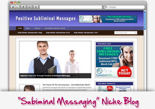 Pay for Subliminal Messages Niche Blog - Highly Optimized WP Blogs