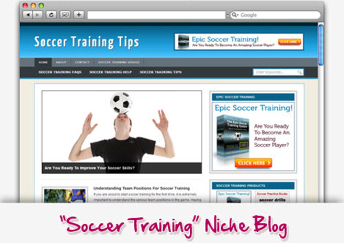 Pay for Soccer Training Niche Blog - Highly Optimized WP Blogs