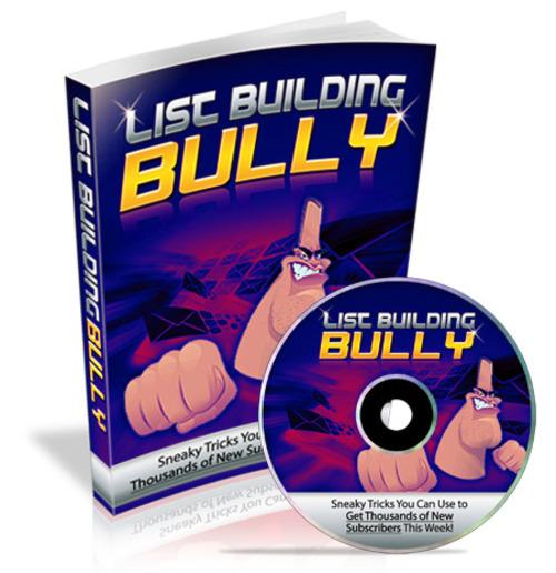 Pay for List Building Bully PLR (eBook and Audio)