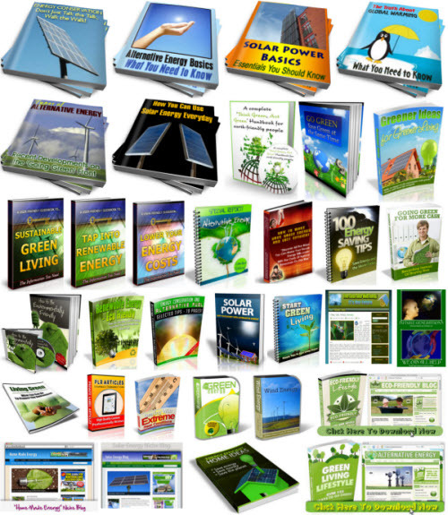 Pay for Eco Friendly Alternative Energy, Environmental Niche Bundle Package