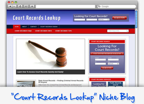 Pay for Court Records Lookup Niche Blog - Highly Optimized WP Blogs