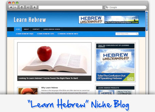 Pay for Learn Hebrew Niche Blog - Highly Optimized WP Blogs