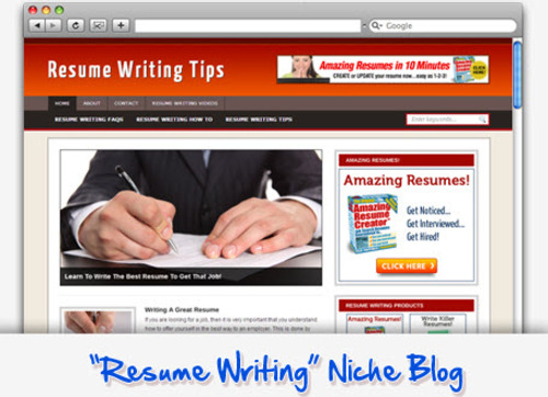 resume writing tips niche blog