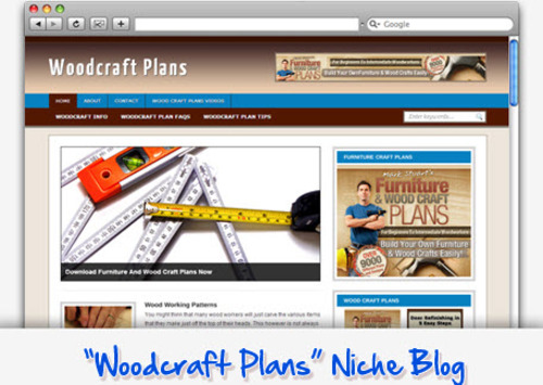 Pay for Woodcraft Plans Niche Blog - Highly Optimized WP Blogs