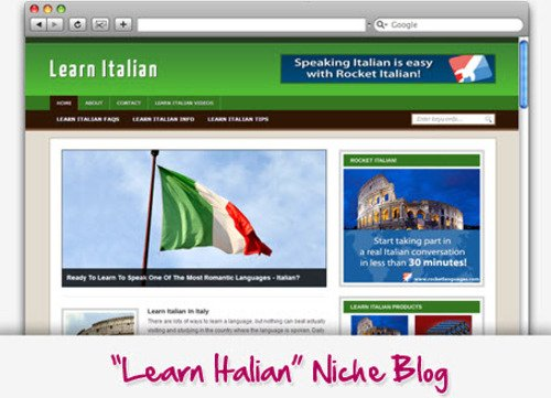Pay for Learn Italian Niche Blog - Highly Optimized WP Blogs