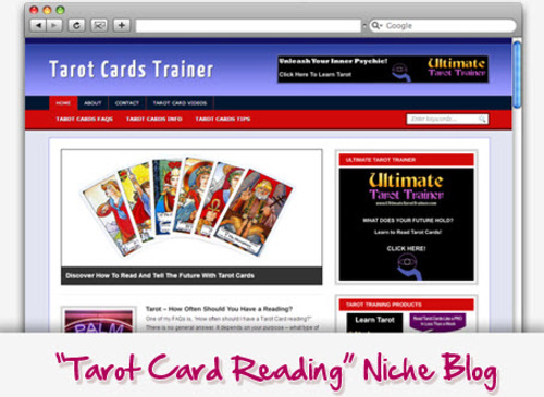 Pay for Tarot Cards Trainer Niche Blog - Highly Optimized WP Blogs