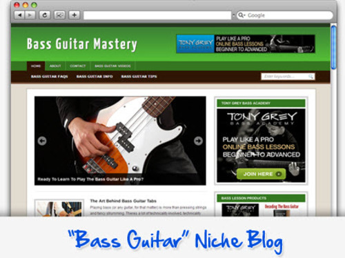 Pay for Bass Guitar Niche Blog - Highly Optimized WP Blogs