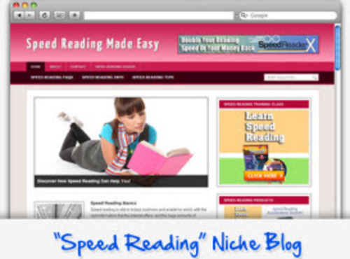 Pay for Speed Reading Niche Blog - Highly Optimized WP Blogs