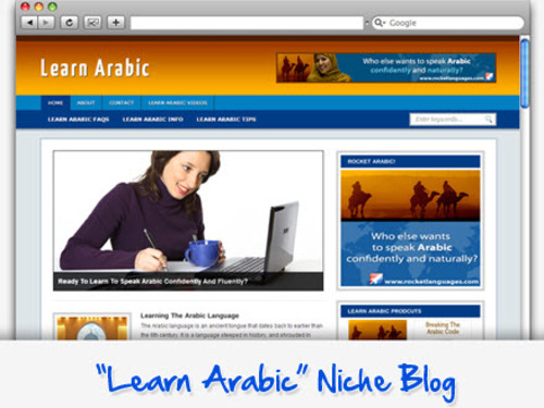 Pay for Learn Arabic Niche Blog - Highly Optimized WP Blogs