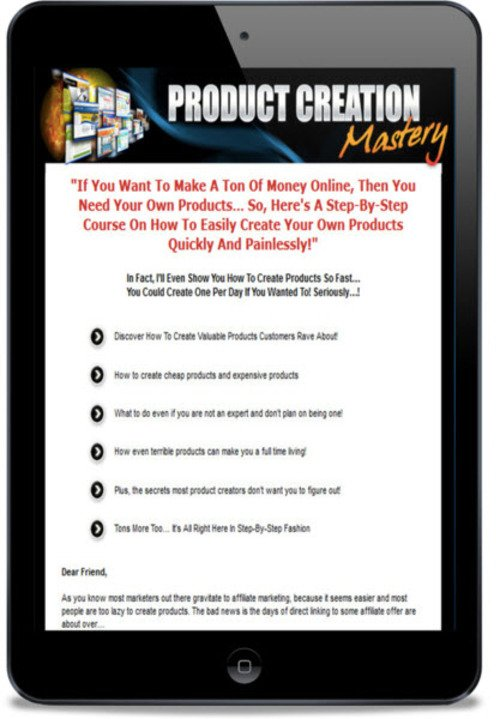 Pay for Product Creation Mastery Video Course - PLR