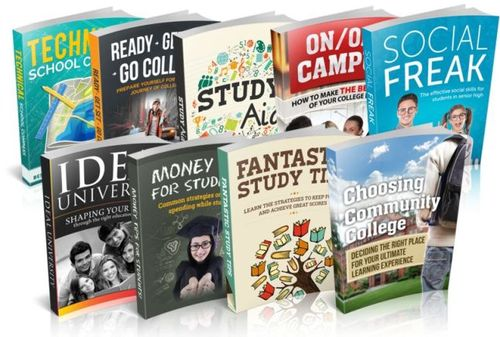 Pay for Guide To College Success Niche Bundle (9 eBooks), MRR