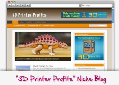 Pay for 3D Printer Profits Niche Blog
