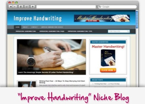 Pay for Improve Handwriting Niche Blog